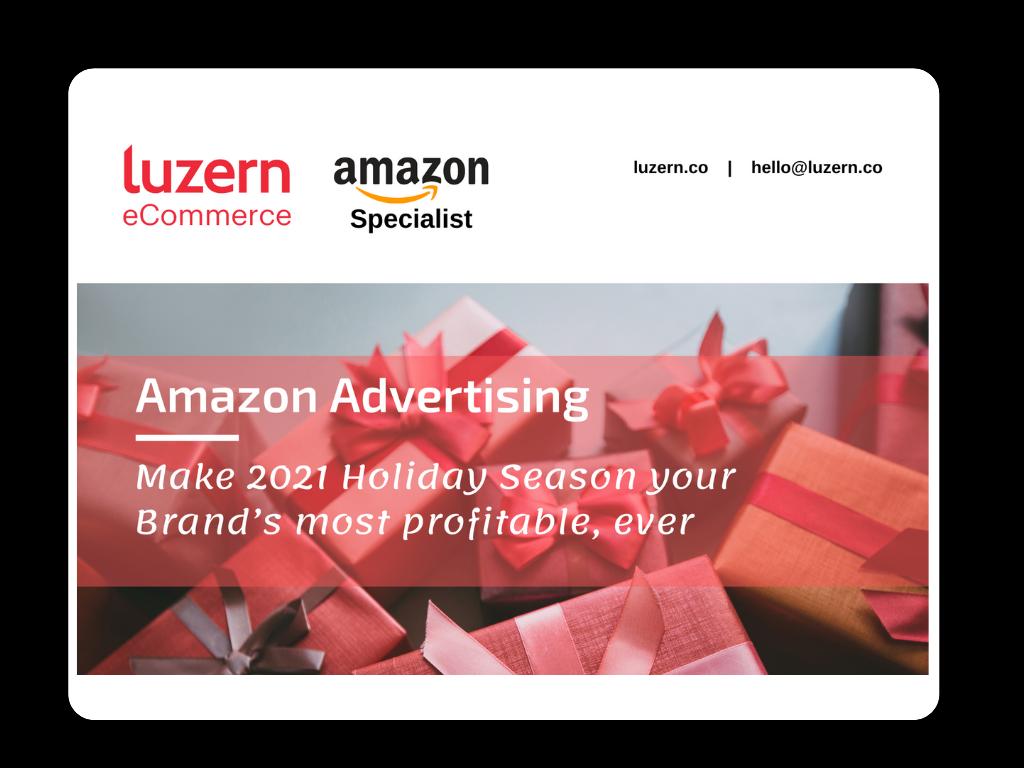 eBook Amazon Advertising Holiday Season 2021 cover